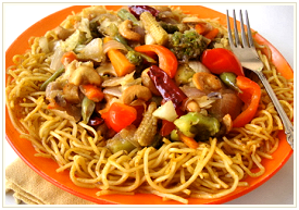mixed chop suey noodles